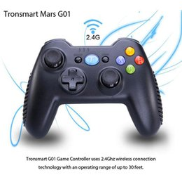 Wholesale Tronsmart Mars G01 GHz Wireless Gamepad for PlayStation PS3 Game Controller Joystick for Android TV Box Windows Kindle Fire PS3 Console