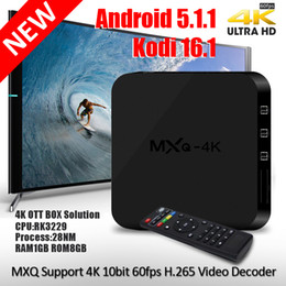 Wholesale iLepo Quad Core mxq k Android box KODI RK3229 K R9 K TV BOX HD Output smart Media Boxes mxq k better than MXQ Two year warranty