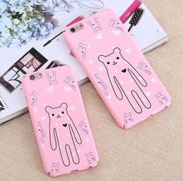 Cute matte Rubber Coated Soft Touch Plastic Hard Case for iphone 6 6S Plus 7 7Plus