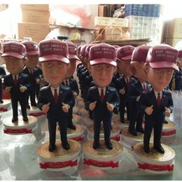Wholesale 18cm U S president Donald John Trump and Hillary Diane Rodham Clinton resin crafts doll home accessories Furnishing articles