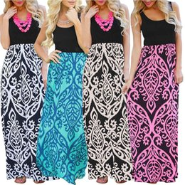 Vestidos Hot Summer Fashion Trend Color Printing Wave Pattern Long Dress Ladies Casual Dresses