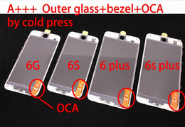 AAA Quality Cold Press 3 in 1 Front Outer Glass Lens With Frame&OCA for iphone 7g 7plus 6plus 6s plus 6 5 5s 5c Refurbish Parts