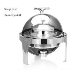 Free shipping Hot Sale Stainless Steel Flip Round Buffet Chafing Dish With Window