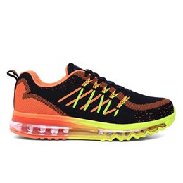 Spring, summer, new breathable men's shoes The new fly woven palm air cushion shoes Comfortable outdoor jogging