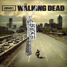 Wholesale The Walking Dead Movie Lucille Baseball bonzi necklace Fashion Accessory chain pendant Negan s Lucille Metal necklace For Fans