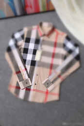 Wholesale The new autumn winter fashion classic business and leisure travelers checks cotton cultivate one s morality men long sleeve shirt