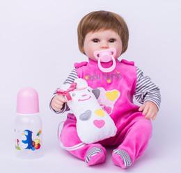 Descuento muñecas de la muchacha 40cm muñeca de silicona Reborn bebé muñeca de juguete para las niñas de vinilo recién nacido chica bebés muñecas niños niño regalo niña Brinquedos
