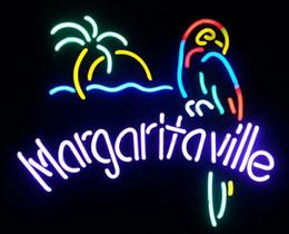 Margaritaville Parrot Real Glass Neon Sign Beer Bar
