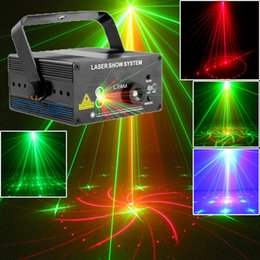 Dj Laser Projector 18 Patterns Red Green Night club lighting aparelho de som Home Party laser disco light stage effect