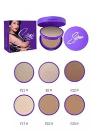 Canada New Arrival Selena Double Cake Face Cake Powder 20G 3 Couleurs Studio Fix Blanchiment Pressé Fondation Poudre Facile Maquillage de Visage DHL Gratuit cheap whitening pressed powder Offre