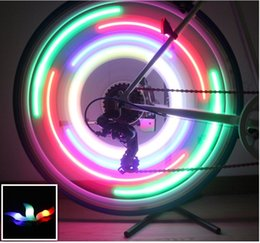Wholesale Flash Lamp Bulb For Safety Alarm LED Bicycle Bike Rim Lights Cycling Wheel Spoke Light Motorcycle Wheels Silicone Lamp