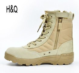 Wholesale New America Sport Army Men s Tactical Boots Desert Outdoor Hiking Boots Military Enthusiasts Marine Male Combat Shoes A1096