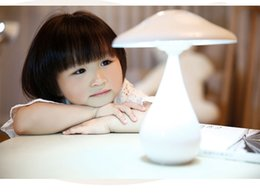 Creative LED table lamps air purifier function mushroom lamp can charge students with eye protection lamp stepless adjustable bedside lamp