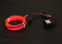 Wholesale-NEW 10 Color 2m welted EL Wire(Neon wire,electrolumines wire) with 12VDC Activated Set