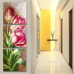 Скидка большие отпечатки на холсте 3шт Unframed Цветы холст картины Art Rose цветочные стены фотографии Печать Большой стены искусства для дома Modern Wall Art JC0366
