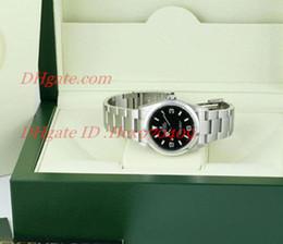 Wholesale Original Box Papers Top Quality Men s Wristwatch Expl Stainless Steel Black Dial Mens Watch Men s Watche