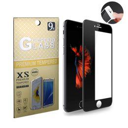 2017 iphone vidrio de alta calidad De alta calidad de fibra de carbono anti-crack cubierta completa de vidrio templado para el iPhone 6 6 más el protector de la pantalla 9H de la dureza de la pantalla de vidrio templado presupuesto iphone vidrio de alta calidad