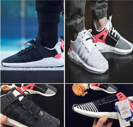 Originals EQT Support 93 17 Boost OG Primeknit Black White Pink Turbo Red White Mountaineering Women Men Running Shoes With Box Eur 36-44