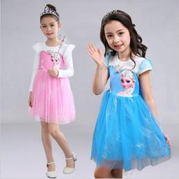 Promotion anna manteau gelé Frozen Princess Dress Anna Elsa Robe Robes Bébé Jeans Princesse à la Mère Princesse Robe de Soirée Casual avec Cape Kid223