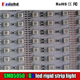 Wholesale RGB SMD5050 rigid strip light bar M M M M single color LED light bar v for cabinet avertising lamp box year guaranty m