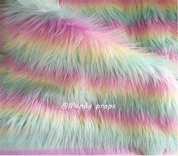 Rainbow faux fur blanket,newborn cushion backdrop faux fur blanket,baby photo props