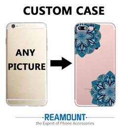 3D Relief DIY Customized Mandalas Mobile Phone Case Cover TPU Transparent case for Iphone 7 DIY Customize Photo Pictures