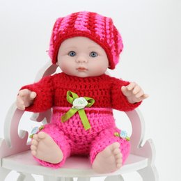 8 inch 25cm Newborn Baby Doll Soft Silicone Vinyl Reborn Baby Dolls Kids Children Birthday Gift Toy