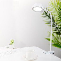 Charging Table Lamps Head Reading Light LED Learning Eye Table Lamp With Clip USB Socket Table Light Adjust Brightness Desk Light