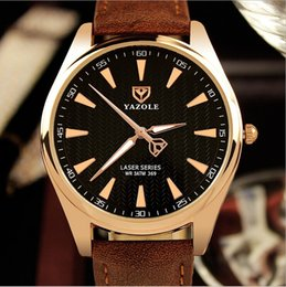 2017 hot luxury brand YAZOLE watch white black high quality casual fashion men's wristwatch leather band quartz watch