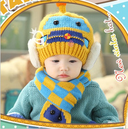 Beanie baby winter Winter earmuffs new car baby baby hat hat suit + scarf
