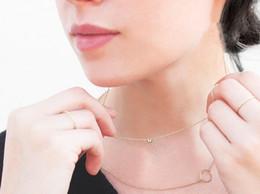 Superfine imitation diamond sliver necklace 925 silver zircon Round cut