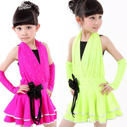 3Pcs Girls Latin Salsa Dancing Dress Kids Party Ballroom Dance Costumes Clothes Girls professional competition dresses