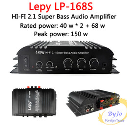 Wholesale lepy LP S Mini HiFi V W x2 W RMS output power amplifier CH Car Auto Home Audio Stereo Bass Speaker