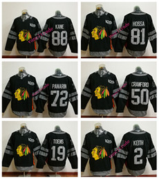 Wholesale 100th Chicago Blackhawks Jonathan Toews Crawfo Artemri Panarin Marian Hossa Patrick Kane Black Jersey Mix order