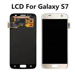 2016 écrans lcd samsung Pour Samsung Galaxy S7 Ecran LCD Ecran tactile Digitizer Touch Panels Assemblage Remplacement Réparation Grade A +++ écrans lcd samsung ventes