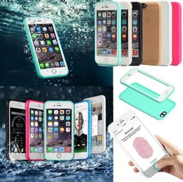 360 Full Protection Ultra Thin Soft TPU Hybrid Tough Armor Underwater Waterproof Case For Apple iPhone 7 Plus 6S 5S Swimming Diving Cases