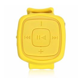 Mp3 mémoire lecteur 1gb en Ligne-Vente en gros- Hot NEw mode Mini Sport MP3 Player de musique Montre bracelet Portable Waterproof watch Mp3 player with micro TF Card flash memory