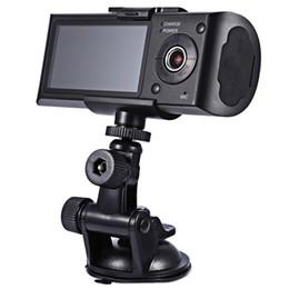Compra Online Cámaras de lentes de porcelana-Cámara de coches HD Dvr grabadora de doble lente Camcorder Dash Cam con la parte trasera 2 Vista del vehículo Dashboard Ir Led Night Vision