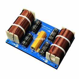 Wholesale Freeshipping W Deep Bass Subwoofer Frequency Divider Crossover Filter Home HiFi Amplifier Audio System Passive Subwoofer Speaker Dedicate