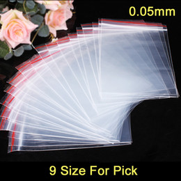 100pcs lot Plastic Ziplock Bags Seal Bags Reclosable Zipper Bags 9 Size For Pick