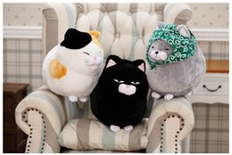 Wholesale Latest Cute Plush Toy Cat Doll quot Black Lovely Figures Steamed Bread Cat High Quality Plush Dolls for Children Best Birthday Gift