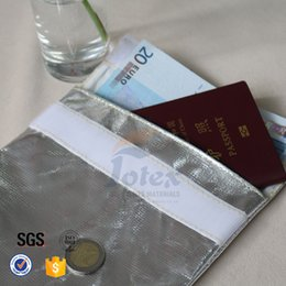 Wholesale Fire Proof Pouch Silver Fiberglass Fabric Family Office Use Money Cash Document Fire Safe Bag Chirstmas Gift