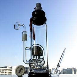 Wholesale DGC ALTA botella de agua de vidrio de tuberías claro Oil Rigs White muñeco de nieve con el logotipo de Dabbing Bongs de cuarzo doblada adaptador de tubo Oil Rigs DGC1205
