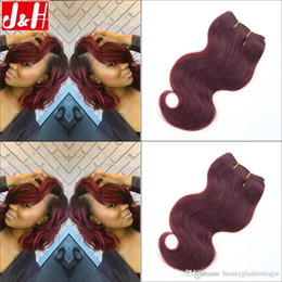 6Pcs lot 300g 8A Brazilian 99J Hair Extensions Body Wave Burgandy Remy Hair Weaves 2016 Trendy Bob Short Hairstyle for African WomeN