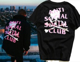 ANTI SOCIAL SOCIAL CLUB T Shirt Men Women Skull head kanye west Summer Style ASSC T-shirt Tees T Shirt