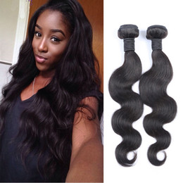 Unprocessed 8A Brazilian Body Wave Human Hair Weaves Bundles 2pcs 100g a lot Human Hair Extensions 130% Hair Density available