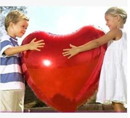 Compra Online Globos del corazón-Decoración de la boda de la boda del globo de la hoja de aluminio del globo del corazón de la buena calidad 100pcs buena Ultra