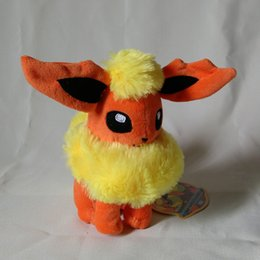 Wholesale Latest Cute Plush Toy Pocket Doll Eevee quot orange Lovely Figures High Quality Plush Dolls for Children Best Birthday Gift