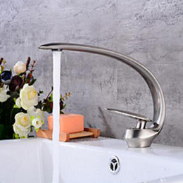 Unique Design Basin Sink Faucet Single Handle Beautiful Shape Bathroom Hot and Cold Water Mixer Taps