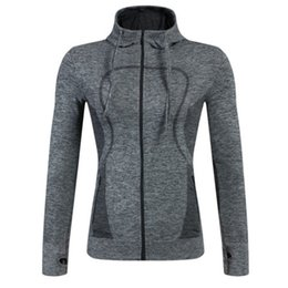 2017 New Womens Zipper Hoodie for Yoga Training Athletic Jackets for Running and Gym Fitness Free Shipping